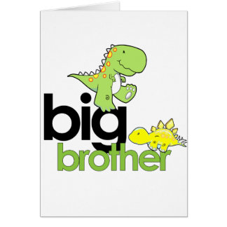dinosaurs big brother greeting cards