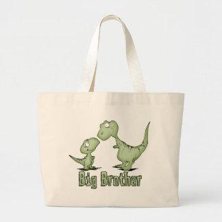 Dinosaurs Big Brother Large Tote Bag