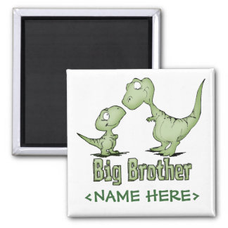 Dinosaurs Big Brother Square Magnet
