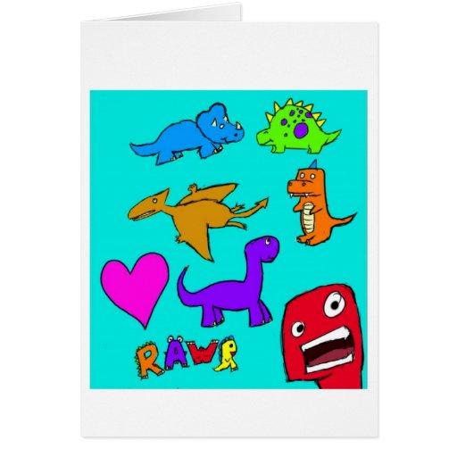 Dinosaurs! Greeting Cards