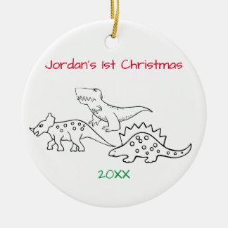 Dinosaurs Christmas Christmas Ornament