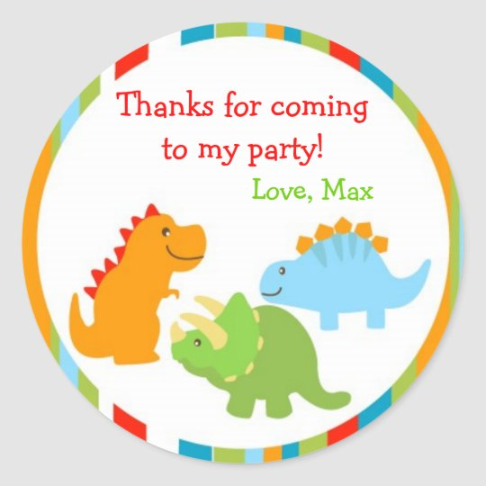 Dinosaurs Dino Favour Stickers Labels Seals Kids