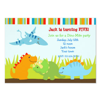 Dinosaurs Dino Photo Birthday Party Invitations