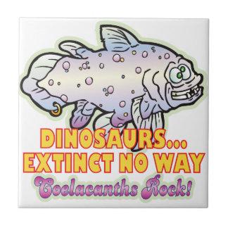 Dinosaurs Extinct Coelacanth Ceramic Tile