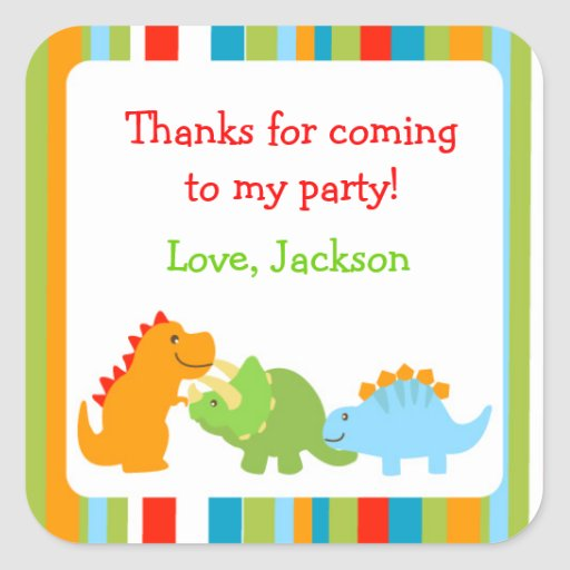 Dinosaurs Favor Stickers Seals Labels