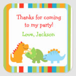 Dinosaurs Favour Stickers Seals Labels
