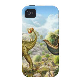 Dinosaurs Fighting Anklosaurus and Tyrannosaurus Case-Mate iPhone 4 Cover