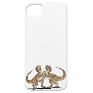 Dinosaurs fighting barely there iPhone 5 case