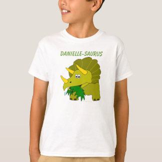 Dinosaurs For Kids Custom Name Fun Triceratops T-Shirt