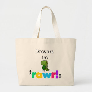Dinosaurs Go Rawr xD Large Tote Bag