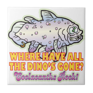 Dinosaurs Gone Coelacanth Tiles