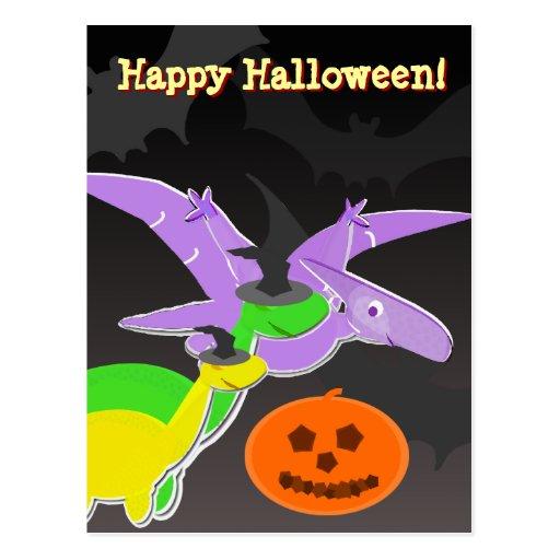 Dinosaurs Happy Halloween Postcard