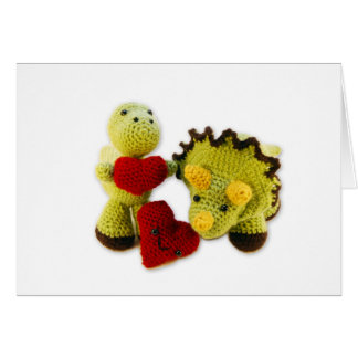 Dinosaurs & Hearts - Blank Note Card