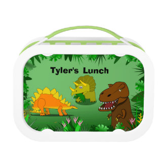Dinosaurs in the Jungle Personalized Boys Lunchbox