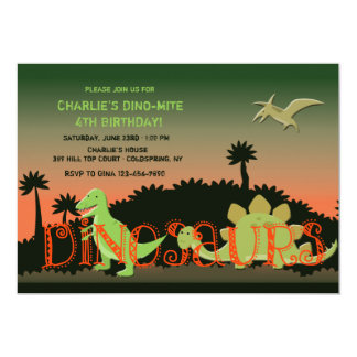 Dinosaurs Invitation