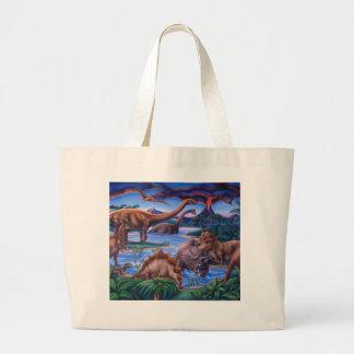 Dinosaurs Large Tote Bag
