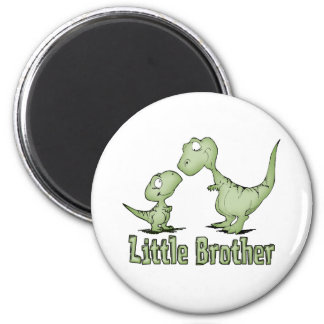 Dinosaurs Little Brother 6 Cm Round Magnet