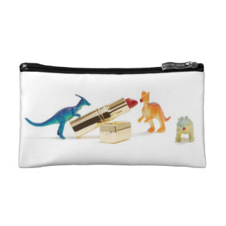 Dinosaurs Love Lipstick Small Cosmetics Bag