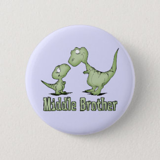 Dinosaurs Middle Brother 6 Cm Round Badge