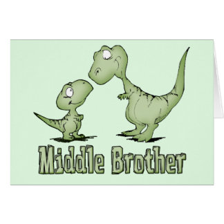 Dinosaurs Middle Brother Stationery Note Card