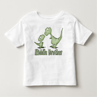 Dinosaurs Middle Brother Toddler T-Shirt