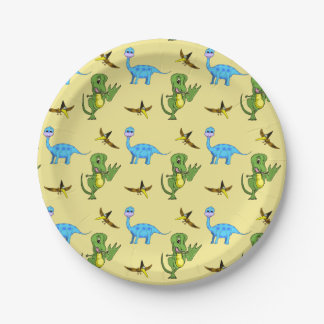 Dinosaurs Paper Plates 7 Inch Paper Plate