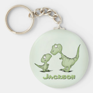 Dinosaurs Personalized Key Ring