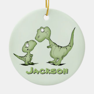 Dinosaurs Personalized Round Ceramic Decoration