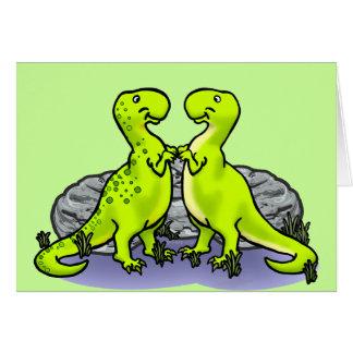 Dinosaurs Rock! Greeting Card