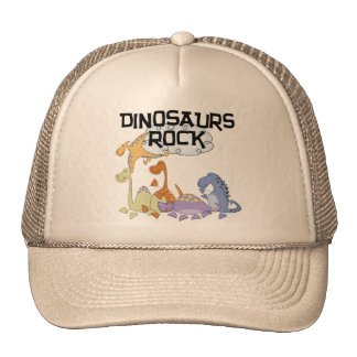 Dinosaurs Rock Tshirts and Gifts Cap