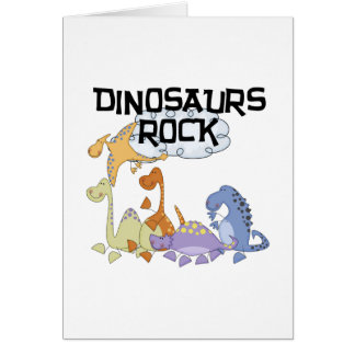 Dinosaurs Rock Tshirts and Gifts Card