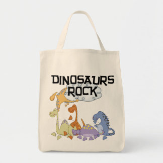 Dinosaurs Rock Tshirts and Gifts Tote Bag