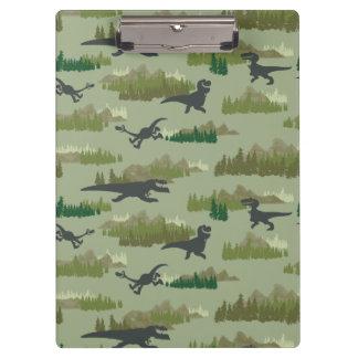 Dinosaurs Running Camo Pattern Clipboard
