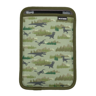 Dinosaurs Running Camo Pattern iPad Mini Sleeve