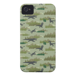 Dinosaurs Running Camo Pattern iPhone 4 Case