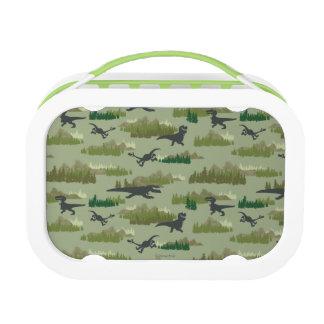 Dinosaurs Running Camo Pattern Lunch Box