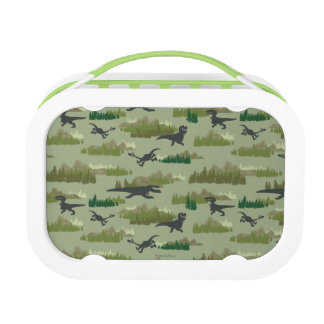 Dinosaurs Running Camo Pattern Lunchboxes