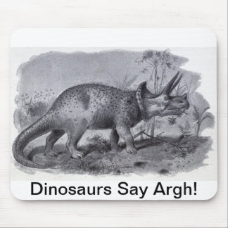 Dinosaurs Say Aargh! Mouse Pad