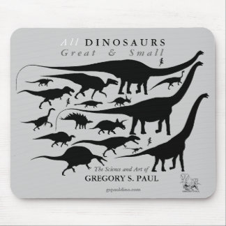 Dinosaurs Silhouettes Mousepad Gregory Paul