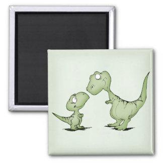 Dinosaurs Square Magnet