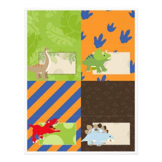 Dinosaurs Tent Cards 21.5 Cm X 28 Cm Flyer