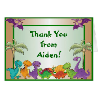Dinosaurs Thank You Note Card