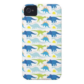 Dinosuar Designs Blue and Green Pattern Dino Gifts iPhone 4 Covers