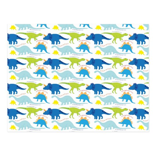 Dinosuar Designs Blue and Green Pattern Dino Gifts