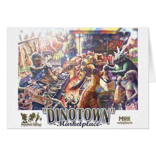 Dinotown Dinosaur Marketplace card