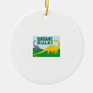 Dinsaurs Rule Christmas Ornament