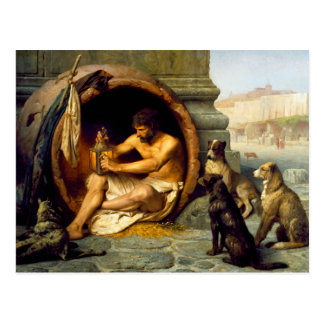 Diogenes by Jean-Leon Gerome Postcard