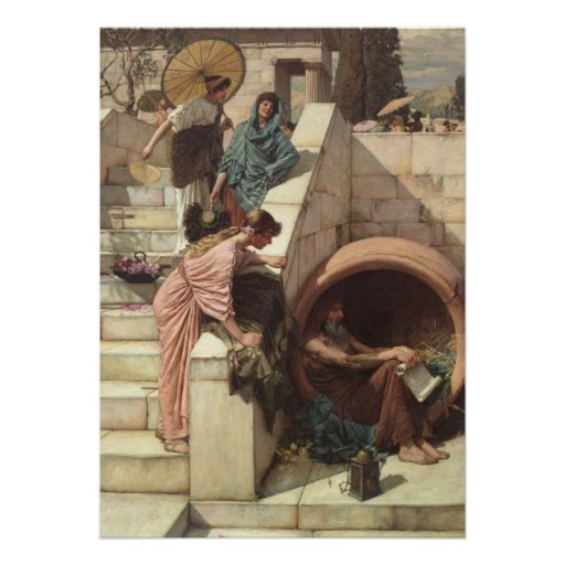 Diogenes by John William Waterhouse Announcement