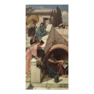 Diogenes by John William Waterhouse Photo Card
