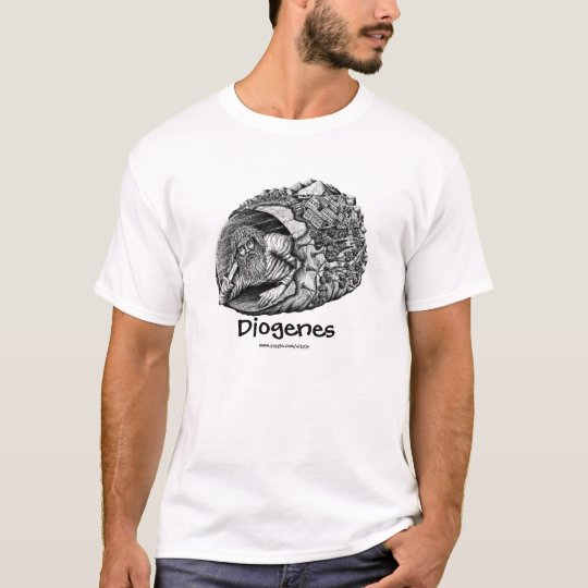 Diogenes ink pen drawing art t-shirt design